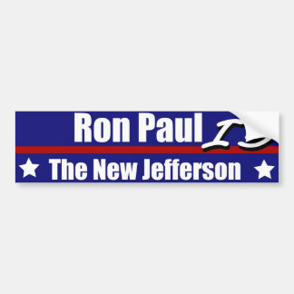 Ron Paul is the New Jefferson Bumper Sticker