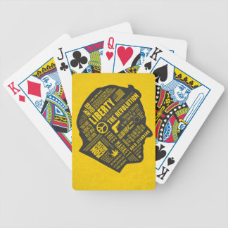 Ron Paul Libertarian Abstract Thought Cards Bicycle Poker Cards