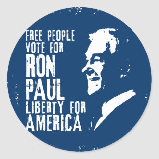 Ron Paul Liberty for America Round Sticker
