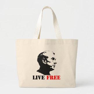Ron Paul Live Free Jumbo Tote Bag