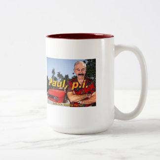 Ron Paul P.I. Episode 9: 'Busting the fed' Coffee Two-Tone Coffee Mug