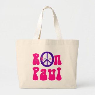 Ron Paul Peace Revolution Jumbo Tote Bag