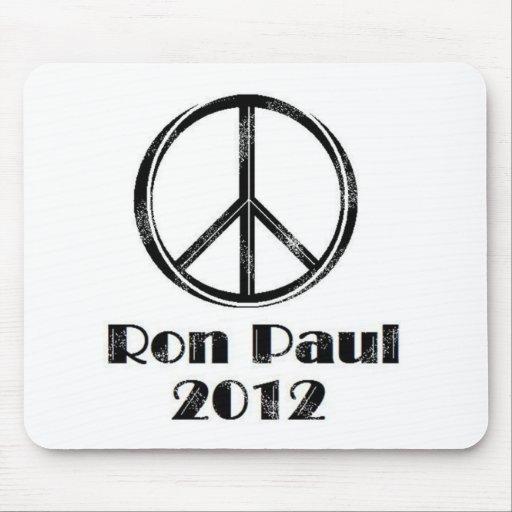 Ron Paul Peace Sign Mousepad