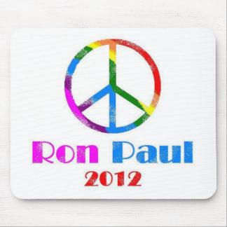 Ron Paul Peace Sign Rainbow Mouse Pad