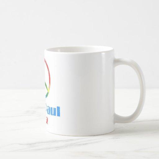Ron Paul Peace Sign Rainbow Coffee Mug