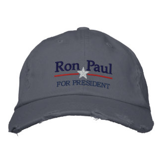 Ron Paul Personalized Text Embroidered Hat