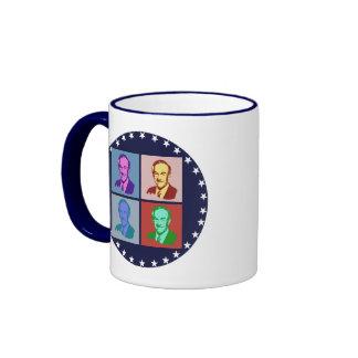 RON PAUL Pop Art Ringer Mug