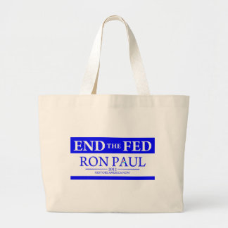 Ron Paul Restore America Now Banner Canvas Bags