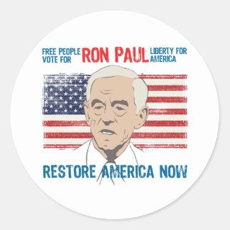Ron Paul restore America Sticker