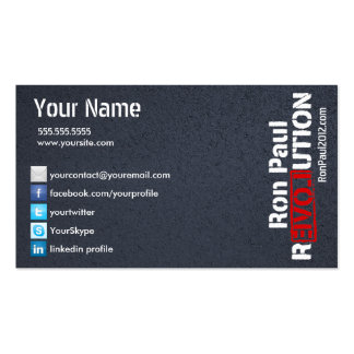 Ron Paul Revolution Card Pack Of Standard Business Cards