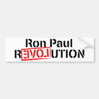 Ron Paul Revolution Continues Bumper Sticker