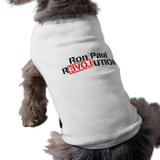 Ron Paul Revolution Continues Sleeveless Dog Shirt