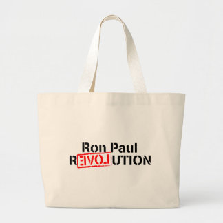 Ron Paul Revolution Continues Jumbo Tote Bag