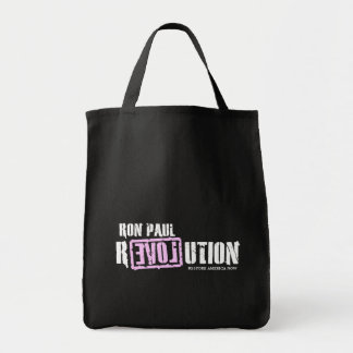 Ron Paul Revolution (pink) - Restore America Now Tote Bags