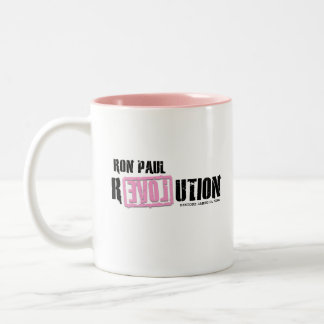 Ron Paul Revolution - Pink Two-Tone Mug