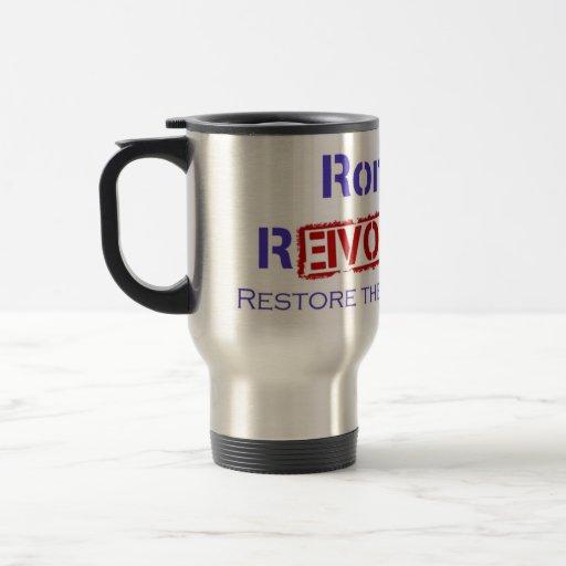 Ron Paul Revolution Restore the Republic Coffee Mug