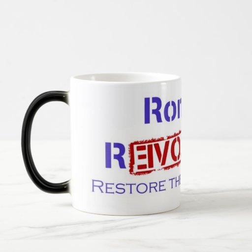 Ron Paul Revolution Restore the Republic Mug