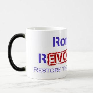Ron Paul Revolution Restore the Republic 11 Oz Magic Heat Color-Changing Coffee Mug