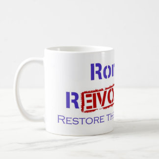 Ron Paul Revolution Restore the Republic Basic White Mug