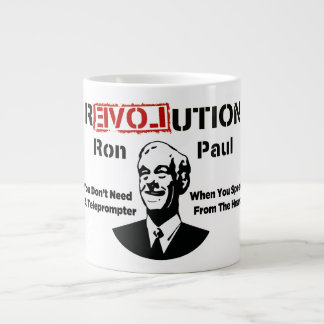 Ron Paul rEVOLution Speak From The Heart Large Coffee Mug