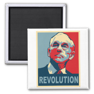 Ron Paul Revolution Square Magnet