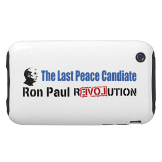 Ron Paul Revolution The Last Peace Candidate Tough iPhone 3 Cover