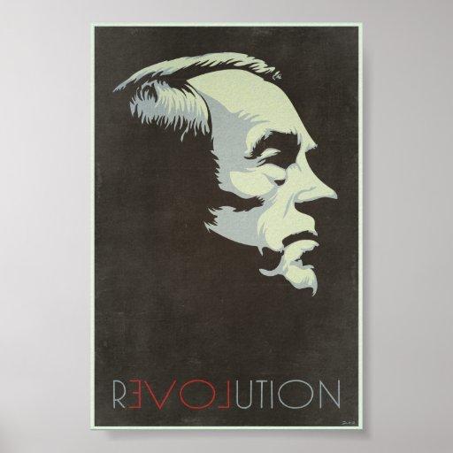 Ron Paul Revolution Vintage Poster
