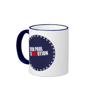 RON PAUL REVOLUTION (white) Ringer Mug