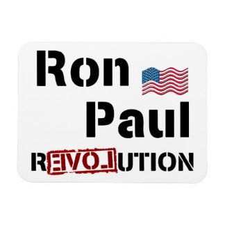 Ron Paul Revolution With American Flag Rectangular Photo Magnet