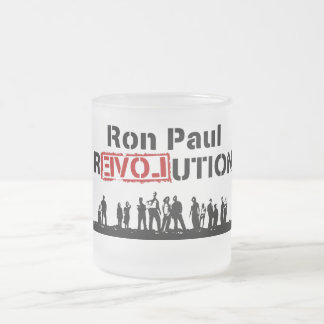 Ron Paul rEVOLution with Supporters Frosted Glass Mug