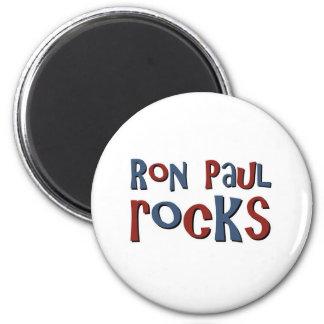 Ron Paul Rocks 6 Cm Round Magnet
