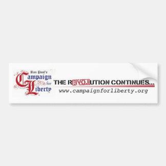 Ron Paul s Campaign for Liberty The Revolution Bumper Stickers