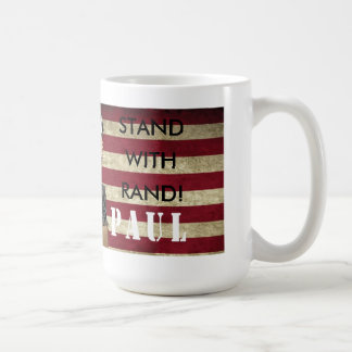 RON PAUL STUMPS FOR RAND PAUL STAND WITH RAND MUG