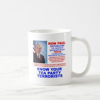 Ron Paul Tea Party Terrorist Republican Texas Coffee Mugs