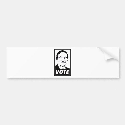 Ron Paul Vote 2012 Black Bumper Sticker