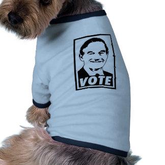 Ron Paul Vote 2012 Black Transparent Dog T-shirt
