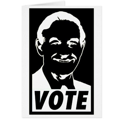 Ron Paul Vote 2012 Card