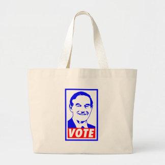Ron Paul Vote 2012 Red White Blue Canvas Bag