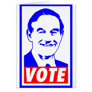 Ron Paul Vote 2012 Red White Blue Card
