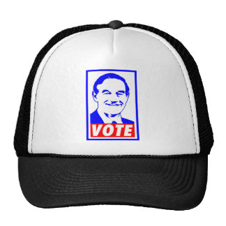 Ron Paul Vote 2012 Red White & Blue Trucker Hats