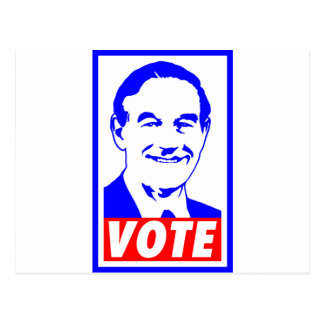 Ron Paul Vote 2012 Red White & Blue Postcard