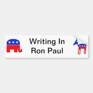 Ron Paul write in Bumper Sticker