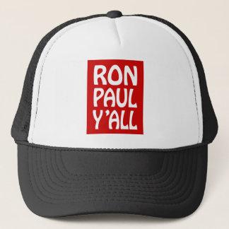 ron paul y'all trucker hat