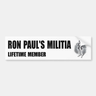 Ron Paul's Militia bumper sticker