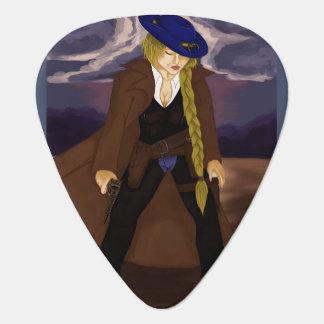 Ron Washburn's Classic: The Lady Gunslinger Guitar Pick