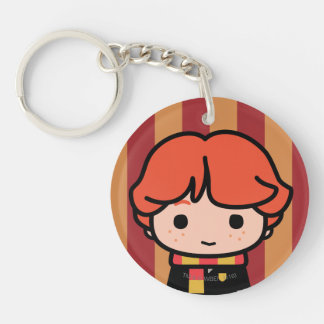 Ron Weasley Cartoon Character Art Double-Sided Round Acrylic Key Ring