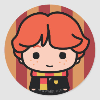 Ron Weasley Cartoon Character Art Round Sticker