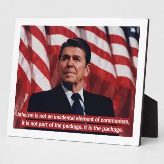 Ronald Reagan Anti-Atheism Plaque