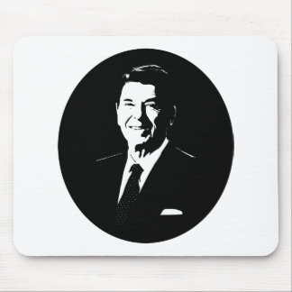 Ronald Reagan -- Black and White Mouse Pad