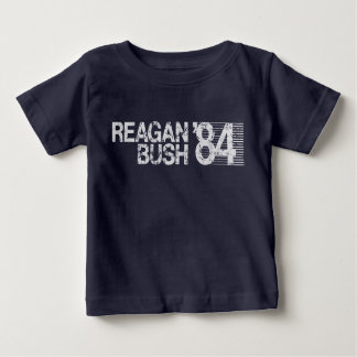 Ronald Reagan Bush 84 Retro Election Baby T-Shirt